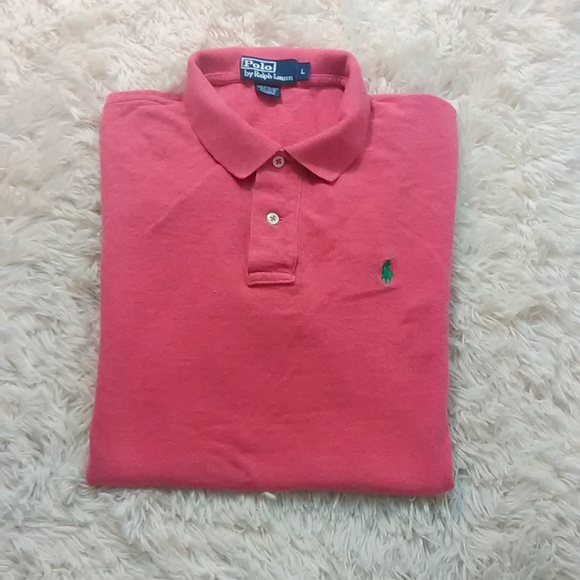 0caf9cc90 Ralph Lauren Polo shirt men rugby peach L casual. M_5b5126b67386bc92f8d5828e